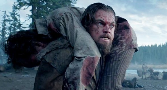 This is Leonardo DiCaprio trying to act the hell out of this movie. You can tell because that is his acting face.